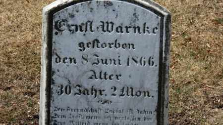 WARNKE, ?? - Erie County, Ohio | ?? WARNKE - Ohio Gravestone Photos