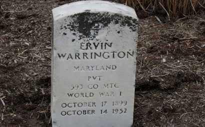 WARRINGTON, ERVIN - Erie County, Ohio   ERVIN WARRINGTON - Ohio Gravestone Photos