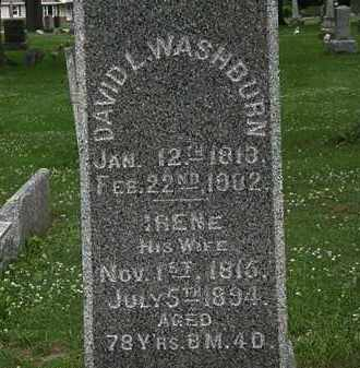 WASHBURN, DAVID L. - Erie County, Ohio | DAVID L. WASHBURN - Ohio Gravestone Photos