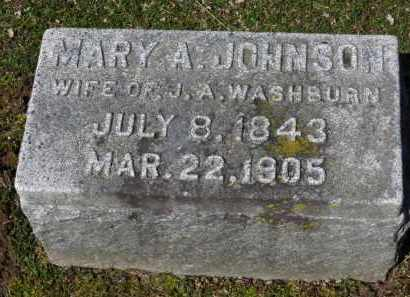 JOHNSON WASHBURN, MARY A. - Erie County, Ohio | MARY A. JOHNSON WASHBURN - Ohio Gravestone Photos