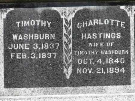 HASTINGS WASHBURN, CHARLOTTE - Erie County, Ohio | CHARLOTTE HASTINGS WASHBURN - Ohio Gravestone Photos