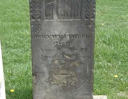 WEATHERLAW, JOHN - Erie County, Ohio | JOHN WEATHERLAW - Ohio Gravestone Photos