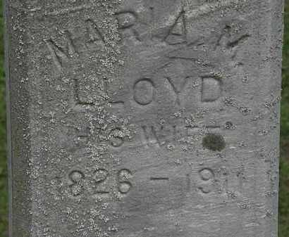 LLOYD WEATHERLOW, MARIAM - Erie County, Ohio | MARIAM LLOYD WEATHERLOW - Ohio Gravestone Photos