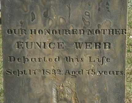 WEBB, EUNICE - Erie County, Ohio | EUNICE WEBB - Ohio Gravestone Photos