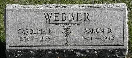 WEBBER, CAROLINE E. - Erie County, Ohio | CAROLINE E. WEBBER - Ohio Gravestone Photos