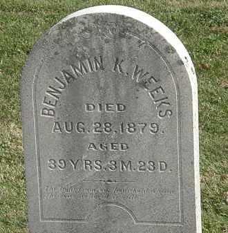 WEEKS, BENJAMIN K. - Erie County, Ohio | BENJAMIN K. WEEKS - Ohio Gravestone Photos