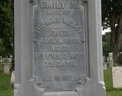 WELCH, EMILY M. - Erie County, Ohio | EMILY M. WELCH - Ohio Gravestone Photos