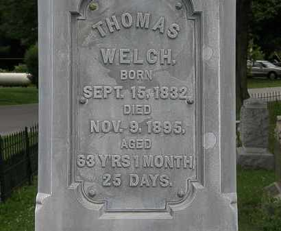 WELCH, THOMAS - Erie County, Ohio | THOMAS WELCH - Ohio Gravestone Photos