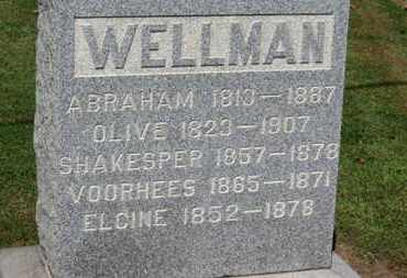 WELLMAN, ABRAHAM - Erie County, Ohio | ABRAHAM WELLMAN - Ohio Gravestone Photos