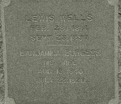 WELLS, BANJAMINA - Erie County, Ohio | BANJAMINA WELLS - Ohio Gravestone Photos