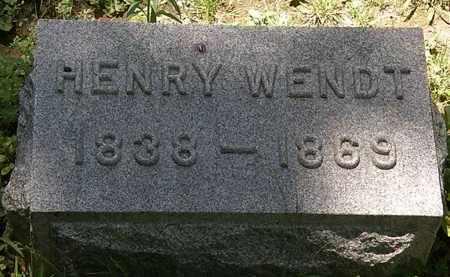 WENDT, HENRY - Erie County, Ohio | HENRY WENDT - Ohio Gravestone Photos