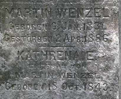 WENZEL, MARTIN - Erie County, Ohio | MARTIN WENZEL - Ohio Gravestone Photos