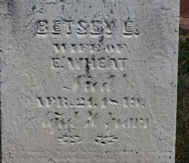 WHEAT, BETSEY - Erie County, Ohio | BETSEY WHEAT - Ohio Gravestone Photos