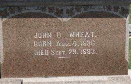 WHEAT, JOHN D. - Erie County, Ohio | JOHN D. WHEAT - Ohio Gravestone Photos