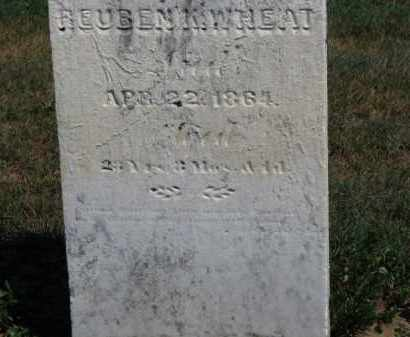 WHEAT, REUBE K. - Erie County, Ohio | REUBE K. WHEAT - Ohio Gravestone Photos