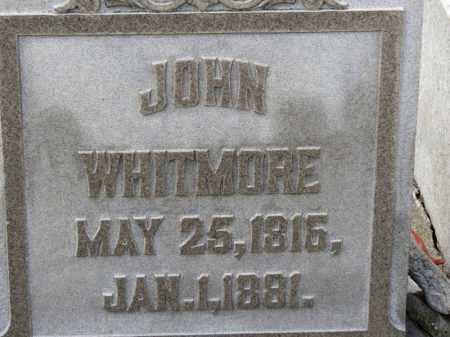 WHITMORE, JOHN - Erie County, Ohio | JOHN WHITMORE - Ohio Gravestone Photos