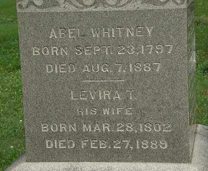 WHITNEY, ABEL - Erie County, Ohio | ABEL WHITNEY - Ohio Gravestone Photos