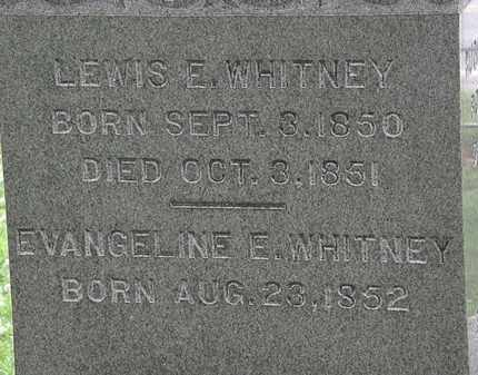 WHITNEY, EVANGELINE E. - Erie County, Ohio | EVANGELINE E. WHITNEY - Ohio Gravestone Photos