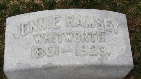 WHITWORTH, JENNIE - Erie County, Ohio | JENNIE WHITWORTH - Ohio Gravestone Photos