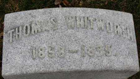 WHITWORTH, THOMAS - Erie County, Ohio | THOMAS WHITWORTH - Ohio Gravestone Photos