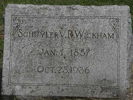 WICKHAM, SCHUYLER V.R. - Erie County, Ohio | SCHUYLER V.R. WICKHAM - Ohio Gravestone Photos