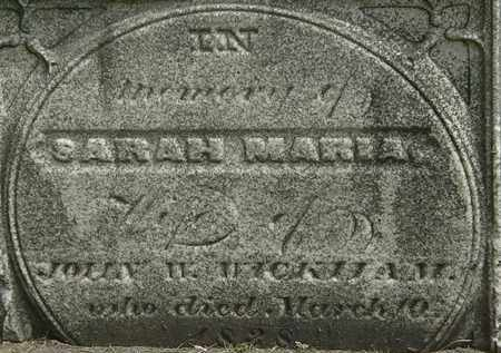 WICKHAN, SARAH MARIA - Erie County, Ohio | SARAH MARIA WICKHAN - Ohio Gravestone Photos