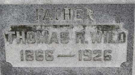 WILD, THOMAS R. - Erie County, Ohio | THOMAS R. WILD - Ohio Gravestone Photos