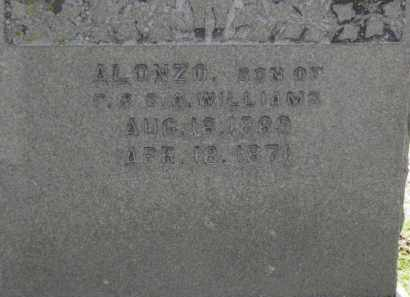 WILLIAMS, ALONZO - Erie County, Ohio | ALONZO WILLIAMS - Ohio Gravestone Photos