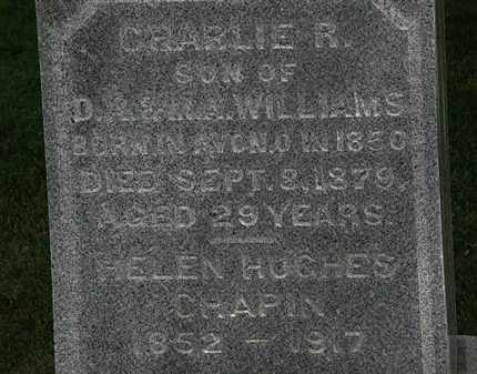 WILLIAMS, CHARLIE R. - Erie County, Ohio | CHARLIE R. WILLIAMS - Ohio Gravestone Photos