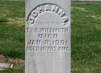 WILLMOTH, JOHANNA - Erie County, Ohio | JOHANNA WILLMOTH - Ohio Gravestone Photos