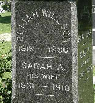 WILLSON, SARAH A. - Erie County, Ohio | SARAH A. WILLSON - Ohio Gravestone Photos