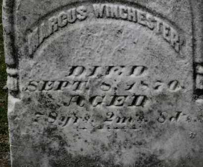 WINCHESTER, MARCUS - Erie County, Ohio | MARCUS WINCHESTER - Ohio Gravestone Photos