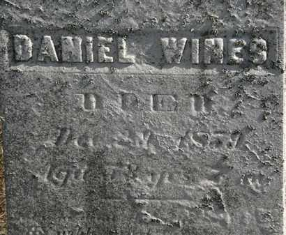 WINES, DANIEL - Erie County, Ohio | DANIEL WINES - Ohio Gravestone Photos