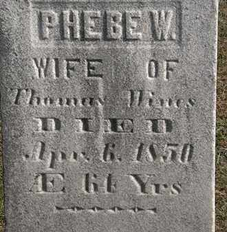 WINES, PHEBE W. - Erie County, Ohio | PHEBE W. WINES - Ohio Gravestone Photos