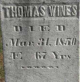 WINES, THOMAS - Erie County, Ohio | THOMAS WINES - Ohio Gravestone Photos