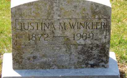 WINKLER, JUSTINA M. - Erie County, Ohio | JUSTINA M. WINKLER - Ohio Gravestone Photos