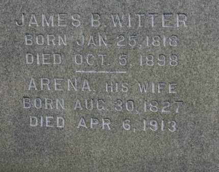 WITTER, JAMES B. - Erie County, Ohio | JAMES B. WITTER - Ohio Gravestone Photos