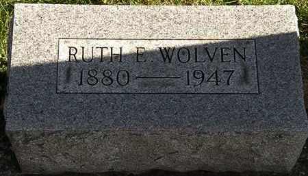 WOLVEN, RUTH E. - Erie County, Ohio | RUTH E. WOLVEN - Ohio Gravestone Photos