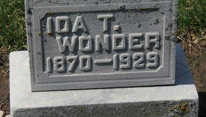 WONDER, IDA T. - Erie County, Ohio | IDA T. WONDER - Ohio Gravestone Photos