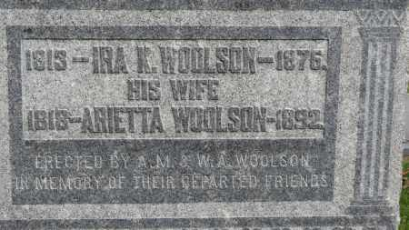 WOOLSON, ARIETTA - Erie County, Ohio | ARIETTA WOOLSON - Ohio Gravestone Photos