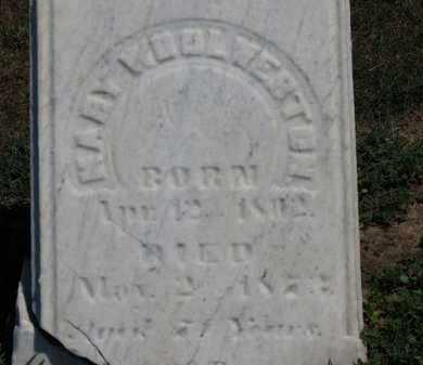 WOOLVERTON, MARY - Erie County, Ohio | MARY WOOLVERTON - Ohio Gravestone Photos