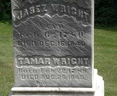 WRIGHT, JABEZ - Erie County, Ohio | JABEZ WRIGHT - Ohio Gravestone Photos