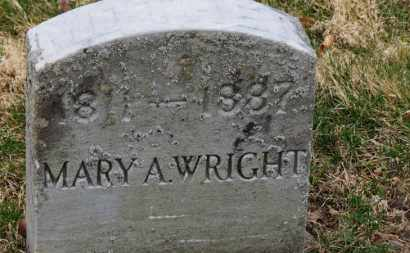 WRIGHT, MARY A. - Erie County, Ohio | MARY A. WRIGHT - Ohio Gravestone Photos