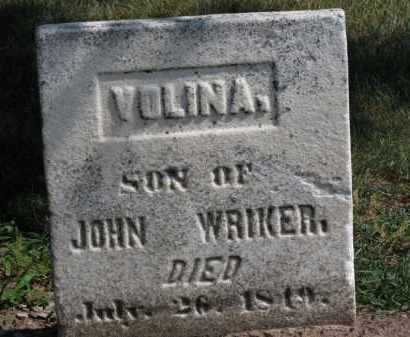 WRIKER, VOLINA - Erie County, Ohio | VOLINA WRIKER - Ohio Gravestone Photos