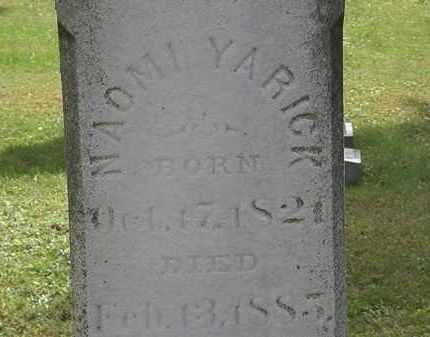 YARICK, NAOMI - Erie County, Ohio | NAOMI YARICK - Ohio Gravestone Photos