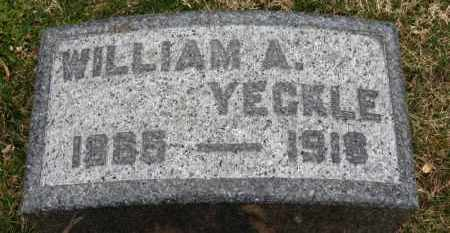 YECKLE, WILLIAM A. - Erie County, Ohio | WILLIAM A. YECKLE - Ohio Gravestone Photos