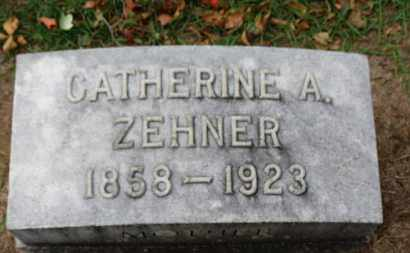 ZEHNER, CATHERINE A. - Erie County, Ohio | CATHERINE A. ZEHNER - Ohio Gravestone Photos