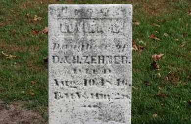 ZEHNER, LOVINA C. - Erie County, Ohio | LOVINA C. ZEHNER - Ohio Gravestone Photos