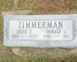 CURRIER ZIMMERMAN, IRENE - Erie County, Ohio | IRENE CURRIER ZIMMERMAN - Ohio Gravestone Photos