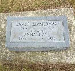 HOYT ZIMMERMAN, ANNA - Erie County, Ohio | ANNA HOYT ZIMMERMAN - Ohio Gravestone Photos